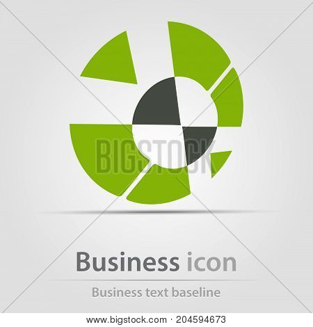 Originally created business icon with dissected circles
