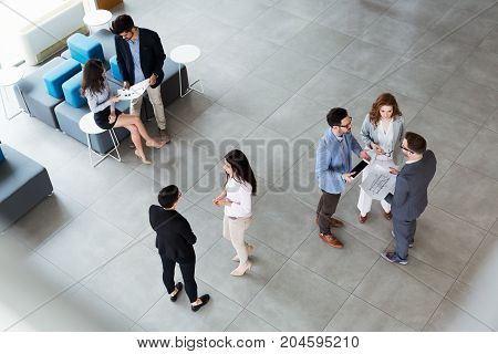 Professional business people working together as team on project