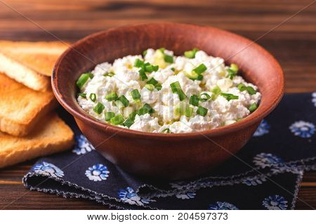 Goat Cream Cheese With Green Onions, Dip Sauce