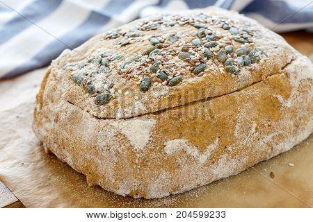 Billet Dough For Baking Pumpkin Bread.