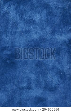 Grunge Blue Painted Plaster Wall Background