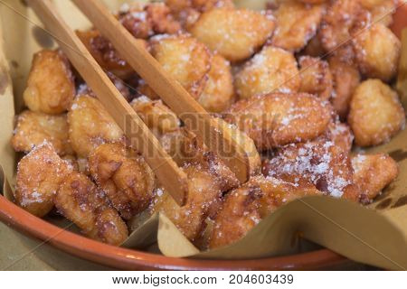Typical Carnival Italian Fritters