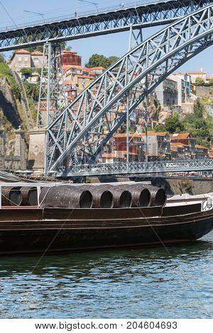 Traditional Rabelo Boats On The Bank Of The River Douro - Porto, Portugal
