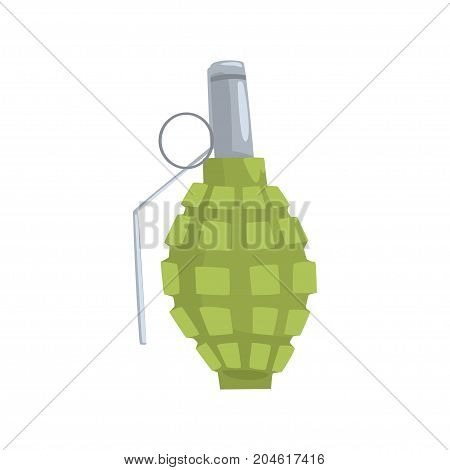 Hand grenade cartoon vector Illustration on a white background