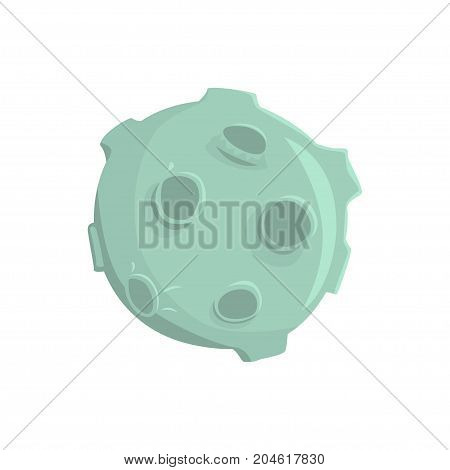 Full moon with craters cartoon vector Illustration on a white background