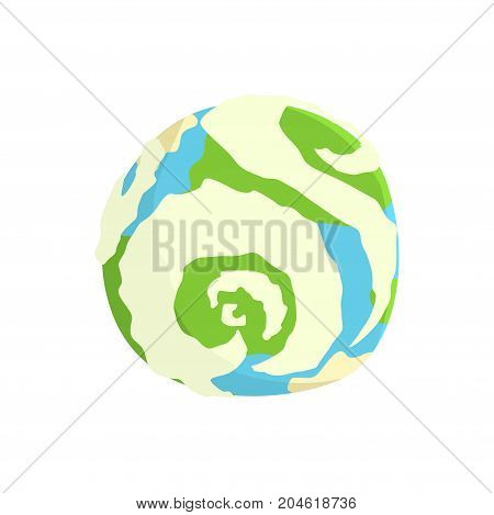 Earth planet cartoon vector Illustration on a white background