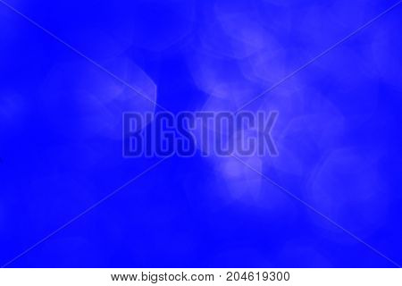 The Deep Blue With White Hexagon Blurred  Background