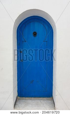Traditional Blue Door From Sidi Bou Said