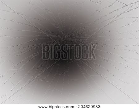 Bullet Hole Pieces Of Shattered Or Smashed Glass