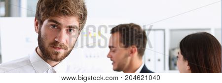 Handsome Bearded Man In Office