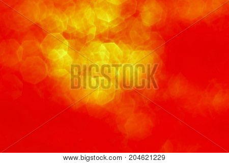 The  Hard Red With Yellow Hexagon Blurred  Background