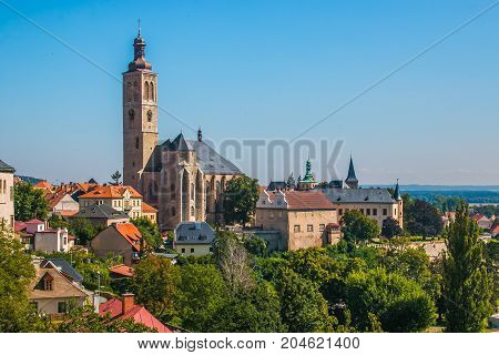 Beautiful view of Kutna Hora medieval city in Bohemia, Czech Republic