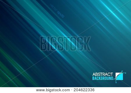 Shiny abstract motion background with straight diagonal beams light sparkling effects vector illustration