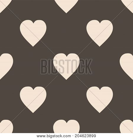 Pattern with hearts. Flat Scandinavian style for print on fabric, gift wrap, web backgrounds, scrap booking, patchwork  Vector illustration Seamless background