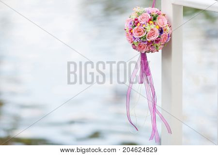 bouquet in wedding ceremony and party - Stock Image