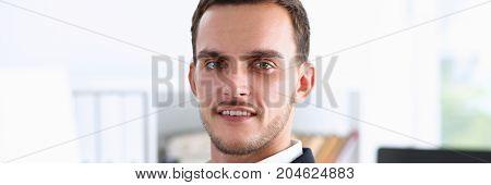 Handsome Man In Suit Look In Camera