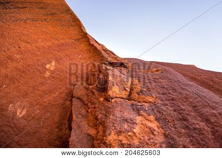 The Famous Prehistoric Rock Engravings At Twyfelfontein, Tourist Attraction And Travel Destination I