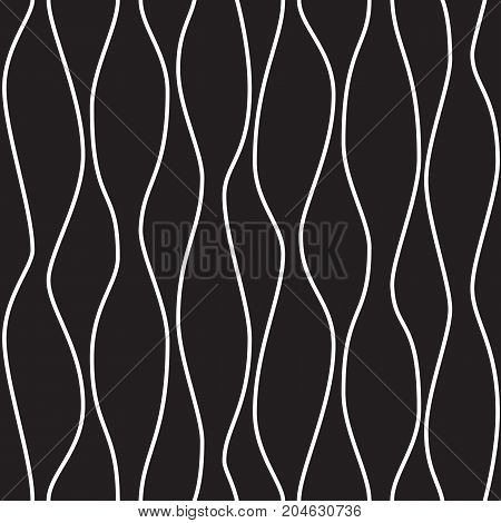 Seamless geometric pattern. Waves in black and white. Graphic design element for web sites, stationary printables, fabric, scrapbooking etc.
