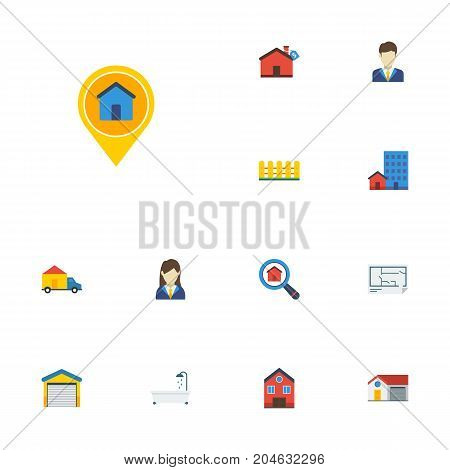 Flat Icons Depot, Hypothec, Buildings And Other Vector Elements