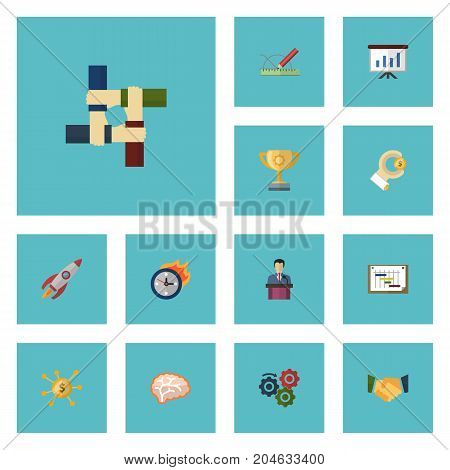 Flat Icons Limit, Businessman, Coin And Other Vector Elements