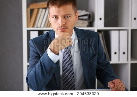 Handsome Businessman Portrait At Workplace