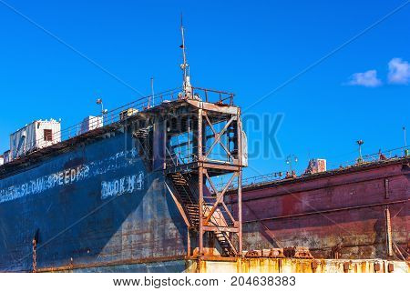 large floating repair dock for ships .