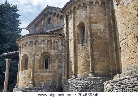 Castell'Arquato (Piacenza Emilia Romagna Italy) apse of the historic Santa Maria church