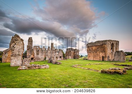 Egglestone Abbey Ruins, can be found on the banks of River Tees near Barnard Castle in County Durham