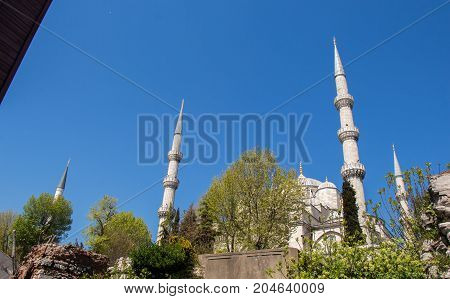 Minaret of an Ottoman style mosque Mosques in view