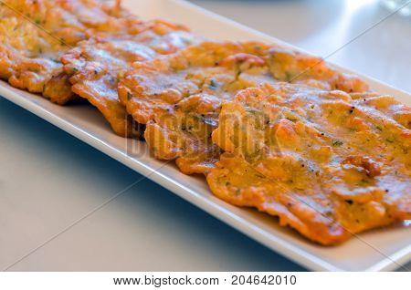 Tapa Of Shrimp Fritters Omelettes Tortillitas De Camarones