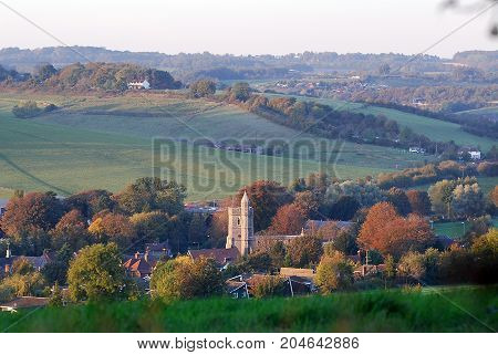 A Small Village nestling in the English Countryside