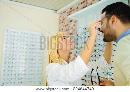 People In Optics Store
