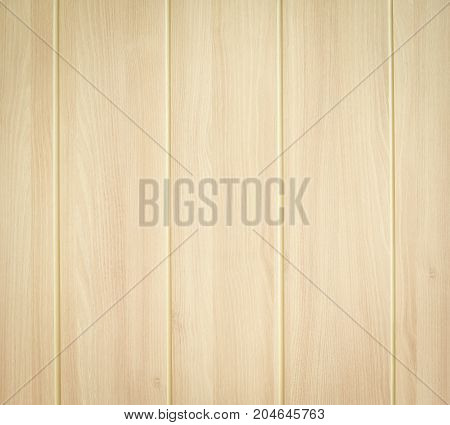 Close up Light wood background with groove line.
