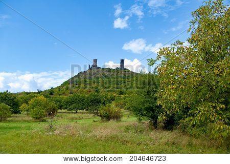 Castle Ruin Haznburk In Central Bohemia