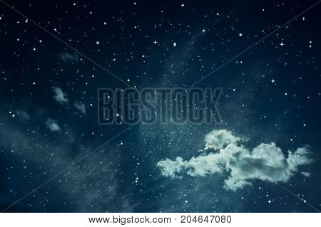Night sky with stars. Fairy tale space background