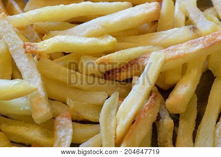 French fries close up horizontal background image