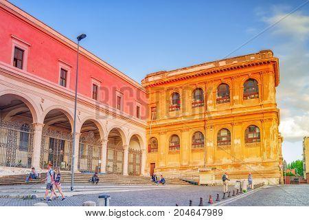 Rome, Italy-may 07, 2017: Basilica Di San Pietro In Vincoli. San Pietro In Vincoli (saint Peter In C