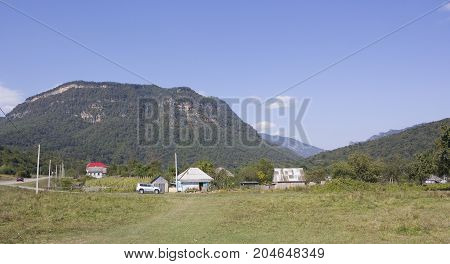 Mountain Monk near the village of Khamyshki in the North Caucasus