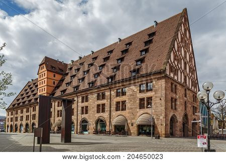 Former Customs House (Mauthalle) in Nuremberg Germany
