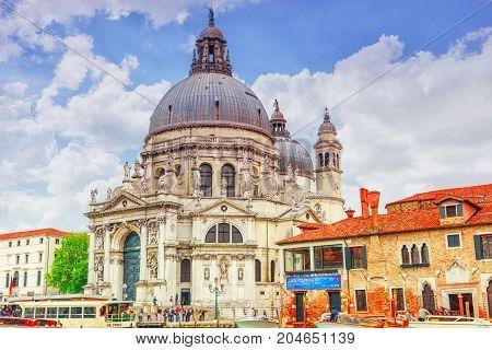 Venice, Italy - May 11, 2017 : Church Of Santa Maria Della Salute (basilica Of Santa Maria Della Sal