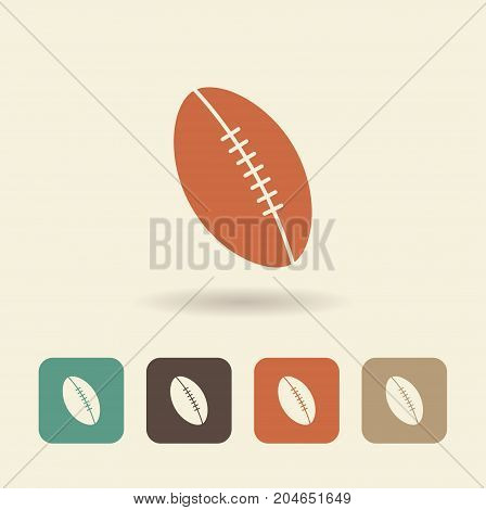 Ball for game in football. Flat logo