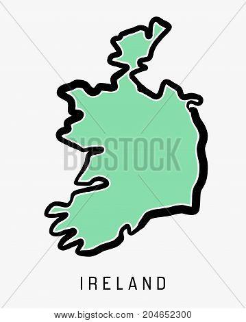 Ireland Simple Map