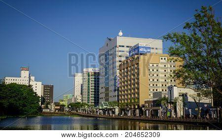 Cityscape Of Akita, Japan