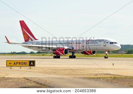 Boeing 757 Royal Flight, Airport Pulkovo, Russia Saint-petersburg August 10, 2017