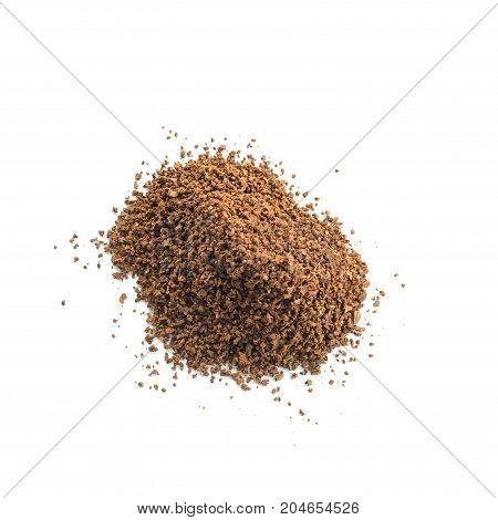 close up photo of coffee powder .