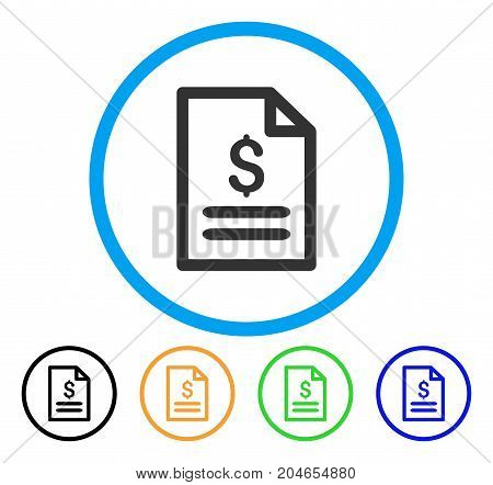Price List icon. Vector illustration style is a flat iconic price list gray rounded symbol inside light blue circle with black, green, blue, yellow color versions.
