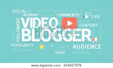 Video blogger concept illustration. Idea of comments, audience and popularity.