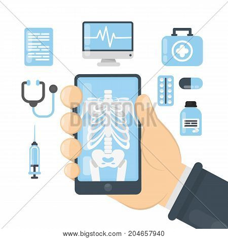 X ray app in smartphone for people.