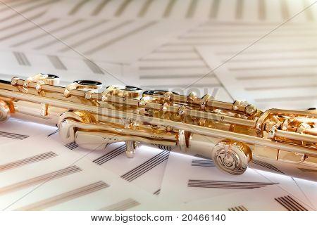 Golden Flute/14 K rose gold