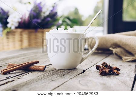 Cup Of Cacao With Marshmallow